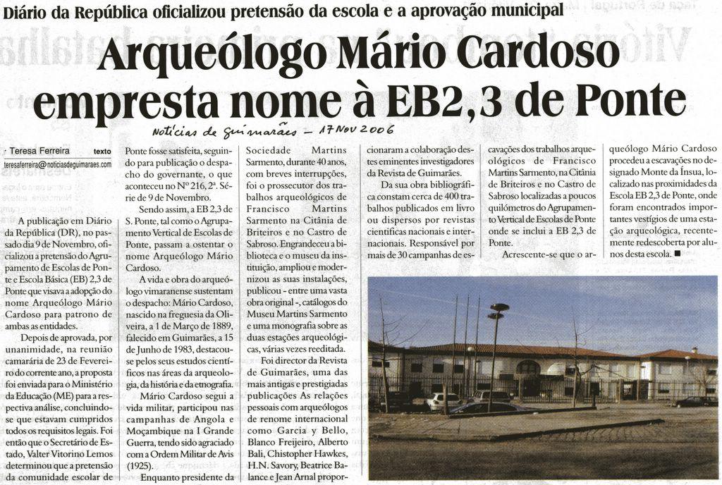 Notícias de Guimarães 17/09/2006